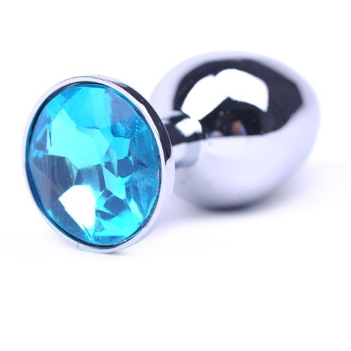 Light Blue Precious Jewel Butt Plug