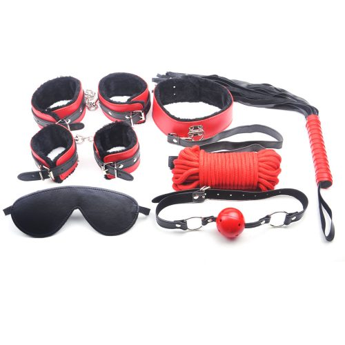 Red and Black Fur Bondage Kit