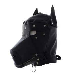 Black Big Dog Bondage Hood