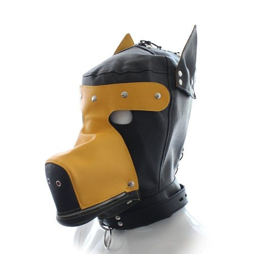Yellow Big Dog Bondage Hood