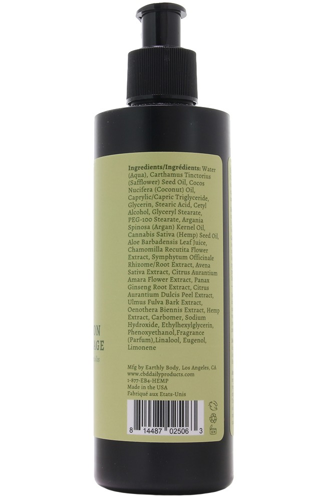 Earthly Body All Natural CBD Daily Massage Lotion